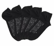 Sneakersocken (5 Paar) schwarz