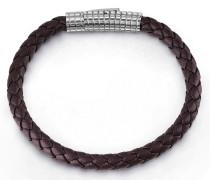 Armband 'intense' dunkelbraun / silber