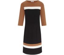 Kleid hellbraun / schwarz / weiß