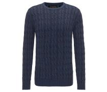 Pullover royalblau / pastellrot