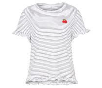 Verspieltes Shirt nachtblau / weiß