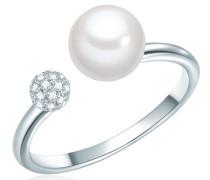 Ring silber / weiß / perlweiß
