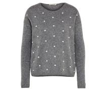 Pullover 'Evina' grau / weiß