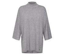 Pullover 'poncho' graumeliert