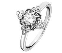 Geschwärzter Ring 'Royalty Weiss'