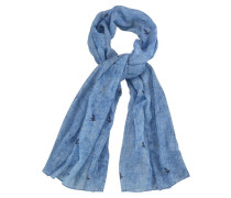 Modeschal blue denim / dunkelblau