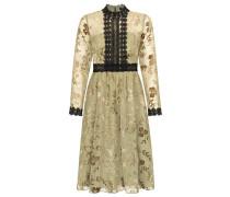 Kleid gold / oliv / schwarz