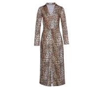 Kleid beige / braun / schwarz