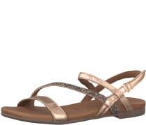 Riemchen-Sandale 'Glitter' bronze