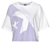 T-Shirt »Linear Wordmark Boxy Tee« weiß