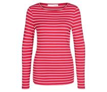 Gestreiftes Langarmshirt rosa / rot