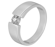 Ring 'Solitaire' silber