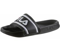 'Slides Morro Bay' Sandalen schwarz / weiß