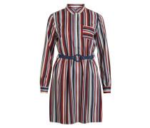Kleid nachtblau / grau / rot / schwarz / weiß