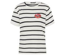 Gestreiftes Shirt rot / schwarz / weiß