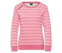 Sweatshirt 'Daria Zig Zag' pink