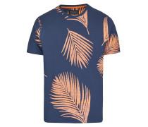 T-Shirt navy / pastellorange