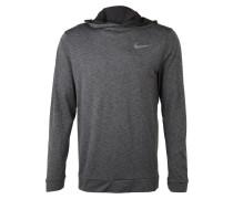 Sportpullover mit Kapuze grau / schwarz