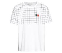 T-Shirt 'CN Grid Aop' weiß