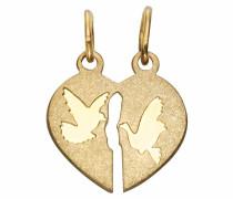 Kettenanhänger »Tauben« gold