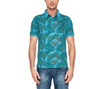 Print-Poloshirt aqua
