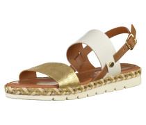 Sandalen braun / gold / weiß