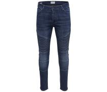 Jeans 'Spun Biker med blue' blue denim