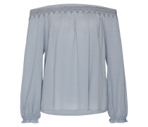 Off-Shoulder Bluse 'ac1129' blau / grau
