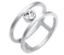 Ring Kristall Ring Solitär-Ring
