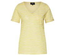 T-Shirt 'objtessi' gelb / weiß