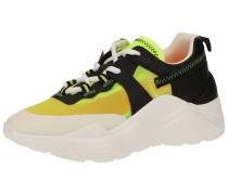 Sneaker gelb / schwarz / weiß