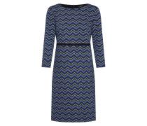 Kleid blau / hellblau / grau / schwarz