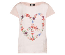 T-Shirt 'floral Heart' puder