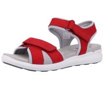 Sandale grau / rot