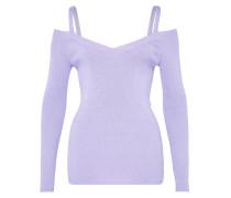 Lurex-Pullover mit Schulterträgern lila