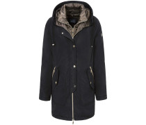 Outdoor-Jacke mit Kapuze schwarz