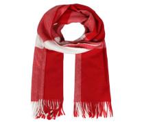 Schal rot / weiß