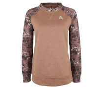 Sweatshirt 'oak' hellbraun / altrosa