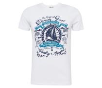 T-Shirt 'zifeme T/s' mischfarben / weiß