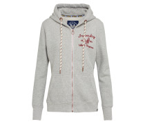 Sweatshirtjacke 'rylee Embroidered'