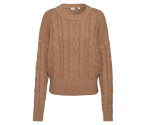 Pullover 'slouchy Cable Crew' camel
