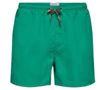 Einfarbige Badeshorts grün