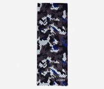 Schal blau / greige / schwarz / weiß