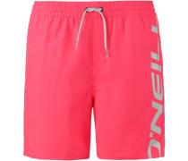 Badeshorts 'Cali' grau / pink