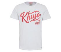 T-Shirt 'Tagos' rot / weiß