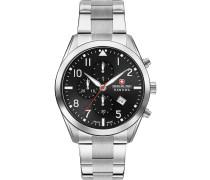 Uhr silber / schwarz