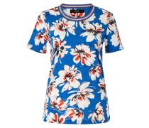 T-Shirt royalblau / rot / schwarz / weiß