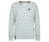 Sweater 'Afterhour' braun / pastellgrün