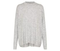 Oversized Pullover silbergrau