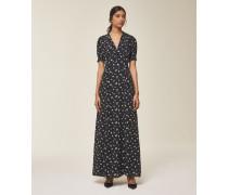 Maxi Kleid schwarz / weiß